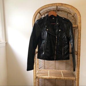 H&M Divided Vegan Leather Black Moto Jacket✨
